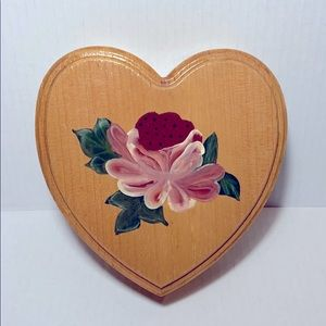 Heart-Shaped Wood Jewelry Box